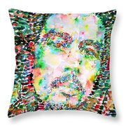 Bob Marley Watercolor Portrait.3 Throw Pillow
