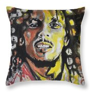 Bob Marley 01 Throw Pillow