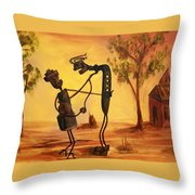 Bob 'n' Betty - Broken Hill Throw Pillow