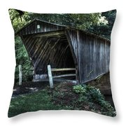 Bob White's Covered Bridge Throw Pillow