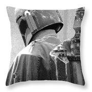 Boba Fett Costume 3 Throw Pillow