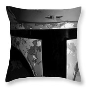Boba Fett Helmet 29 Throw Pillow by Micah May