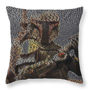 Boba Fett Quotes Mosaic Throw Pillow