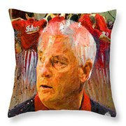 Bobby Knight Indiana Legend Throw Pillow