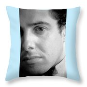 Bobby Portrait Throw Pillow