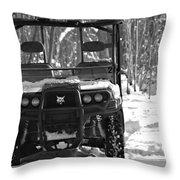 Bobcat Atv In Winter Throw Pillow