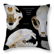 Bobcat Skull Throw Pillow