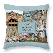 Boboli La Grotta Grande 1 Throw Pillow