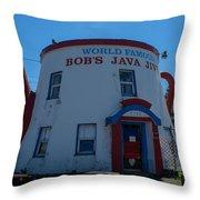 Bob's Java Jive Throw Pillow