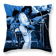 Boc #10 Enhanced In Blue Throw Pillow