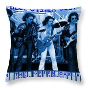 Boc #103 In Blue With Text Throw Pillow