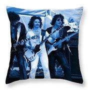 Boc #3 Artistically Enhanced In Blue Throw Pillow