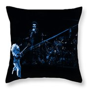 Boc #4 Lasers In Blue Throw Pillow
