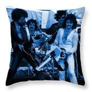 Boc #43 Enhanced In Blue Throw Pillow
