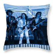 Boc #47 Enhanced In Blue Throw Pillow