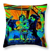 Boc #70 Enhanced In Cosmicolors Throw Pillow