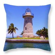 Boca Chita Lighthouse Throw Pillow