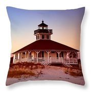 Boca Grande Lighthouse - Florida Throw Pillow