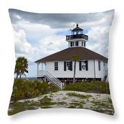 Boca Grande Lighthouse II Throw Pillow