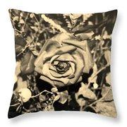 Boca Rose Throw Pillow