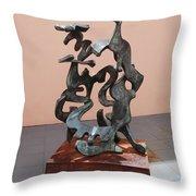 Boca Sculpture Throw Pillow