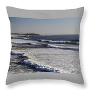 Bodega Bay Beach Throw Pillow