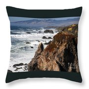 Bodega Bay Color Throw Pillow