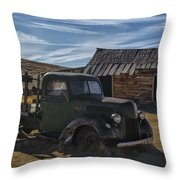 Bodie Abandoned Truck Throw Pillow
