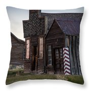 Bodie Bar And Barber Throw Pillow