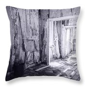 Bodie California In Black And White Throw Pillow