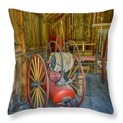 Bodie Fire Dept Water Pumper Img 7310 Throw Pillow