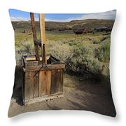 Bodie Ghost Town At The Well Throw Pillow