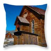 Bodie Ghost Town Church Throw Pillow