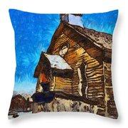 Bodie Ghost Town Methodist Church Throw Pillow