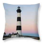 Bodie Island Lighthouse - A Throw Pillow