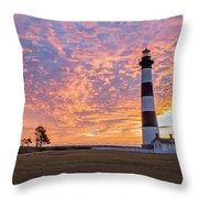 Bodie Island Lighthouse At Sunrise Vetical Throw Pillow