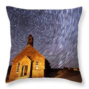 Bodie Star Trails Throw Pillow