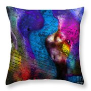 Bodies Colorful Throw Pillow