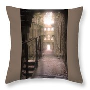 Bodmin Jail Looking In Throw Pillow