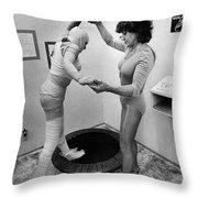 Body Wrap Exercise Throw Pillow