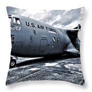 Boeing C-17 Airplane Throw Pillow