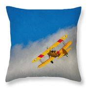 Boeing N2s Throw Pillow