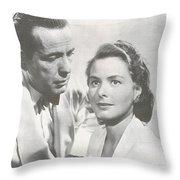 Bogart And Bergman Throw Pillow
