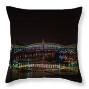 Bogdan Khmelnitsky Bridge Over The Moscow River - Featured 3 Throw Pillow