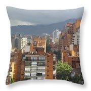 Bogota City View Throw Pillow
