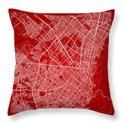 Bogota Street Map - Bogota Colombia Road Map Art On Color Throw Pillow