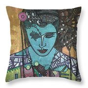 Bohee Woman Throw Pillow
