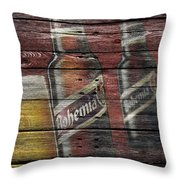 Bohemia Beer Throw Pillow