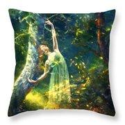 Bohemian Dancer Fantasy Throw Pillow