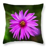 Bohemian Garden Pink Throw Pillow